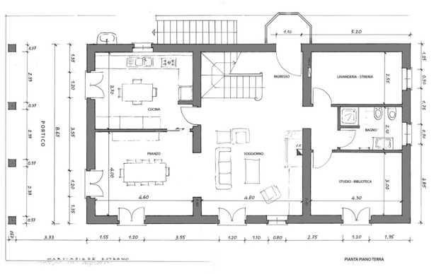 Casolare totalmente ricostruito allo stato grezzo con impianti for Disegni di casa al piano terra